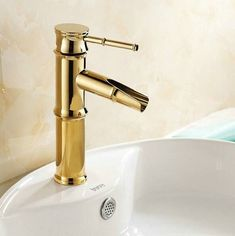 Cheap bathroom bamboo, Buy Quality polished brass faucet directly from China faucet bathroom Suppliers: Gold Polished Brass Faucet Bathroom Basin Sink Mixer Tap Faucet Tall water tap bathroom Bamboo mixer Gold Bathroom Faucet, Gold Faucet, Bamboo Bathroom, Bathroom Fixtures, Sink Mixer Taps, Basin Taps, Water Tap, Messing, Brass Handles