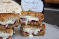 Brie and Cranberry Relish Grilled Cheese