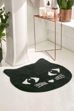 Black Cat Bath Mat   Urban Outfitters