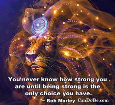 You never know how strong you are until being strong is the only choice you have. Clairvoyant Readings, Wow Art, You Never Know, Visionary Art, Spirit Guides, Bob Marley, Spirit Animal, Naruto, Lion Sculpture