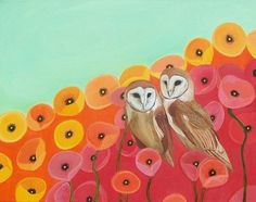 Owls and Poppies. Two of my favorite things.