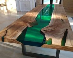 Epoxy Table Top, Epoxy Wood Table, Wooden Tables, Diy Resin Table, Dining Sofa, Dining Room Table, Console Table, Walnut Table, Walnut Wood