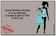 Finding money Dump E-card