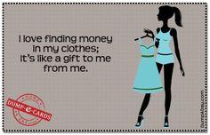 Finding money Dump E-card