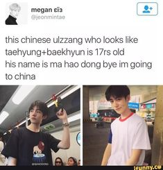 I thought his name was 'Ma Hao Dong bye I'm going to China' for a moment there...