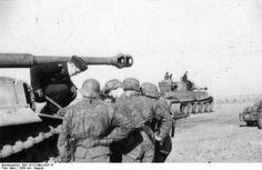 "3`th Waffen SS Pz.Gren.Rgt. "" Eicke "", before a counter attack on 13 Aug 1943 near Chrustschtschewo-Nikitowka Soviet Union"