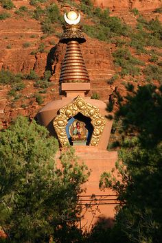 The Amitaba Stupa in Sedona Arizona. I was here a few weeks ago. So peaceful and special.