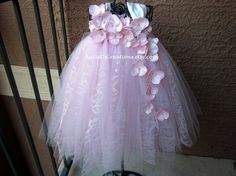 Pink Lace Halter Style Tutu by KatieDscreations on Etsy, $80.00