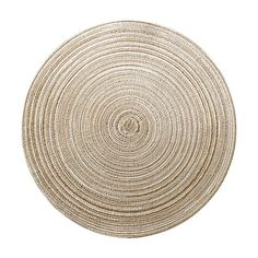 Platzset rund meliert natur D: ca 38cm (100% Polyester)