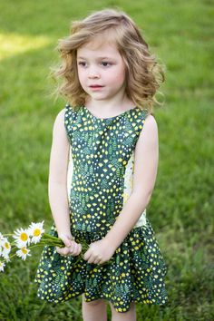 Drop waisted, sleeveless dress with princess seams // sewing pattern // Josephine Dress sewn by Pearberry Lane using the pattern by Bella Sunshine Designs from One Thimble Issue 15