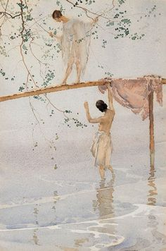 Sir William Russell Flint (Scottish, 1880-1969) Caprice    WATERCOLOR
