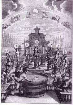 LOS 7 DIOSES PLANETARIOS  Das eröffnete Lust-Haus der Ober-und Niederwelt Erasmus Franciscus, Nuremberg 1676.