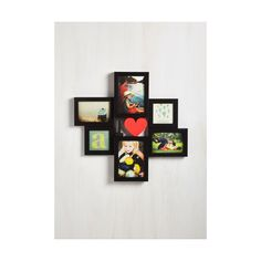 Dorm Decor A Few of My Favorites Photo Frame by ModCloth (€40) ❤ liked on Polyvore featuring home, home decor, frames, black, frame - album, home accessory, wall mount frame, friends frames, black wall frames and black collage picture frames