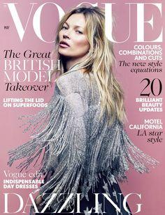 yourmothershouldknow:  Vogue Reino Unido Mayo 2014 Esta es la portada número 35 de Kate Moss para Vogue Reino Unido. Ahí nomás. ….. Vogue Un...