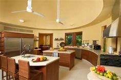 Love the round kitchen wall!