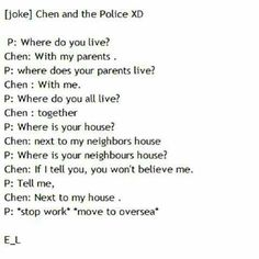 Chen being a smart mouth