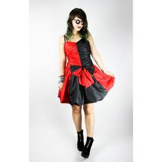 Vintage Cocktail Dress black/red available at the shop ♥ #vintage #cocktaildress #fashion #blackreddress #bow #grunge #gothic