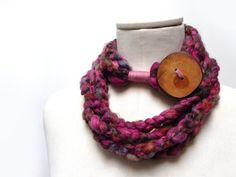 Loop Infinity Scarf Necklace Crochet Scarflette by ixela on Etsy, $34.00