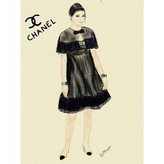 Mi última #ilustración en el #blog. Dedicada a Kendall Jenner en el desfile de Chanel. My last illustration #KendallJenner at #Chanel #Gabrielle #brasserie #KarlLagerfeld #AW15 #show #fashionillustration #fashion #art #moda #style #estilo #love #instamood #fashionsketch #illustration #heelsandpeplum