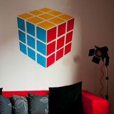 Decoración Rubik (Pintura en pared)