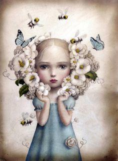 Flower Girl by Nicoletta Ceccoli
