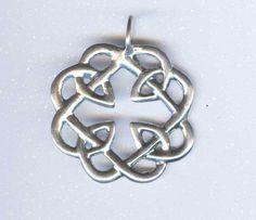 Celtic+Love+Knot+Pendant+LARGE+++Sterling+Silver+by+artasalchemy,+$27.49