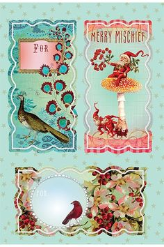 PAPAYA! Art Floral Holiday Sticker 6 Pack - Christmas *NEW* - Occasions - SHOP