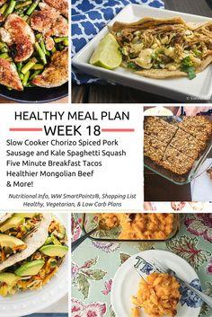 Healthy Meal Plans Week 18 - Slender Kitchen