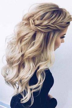 33 lange Haare geschnitten für Damen - beautiful hair styles for wedding Night Out Hairstyles, Down Hairstyles, Braided Hairstyles, Hairstyles 2018, Elegant Hairstyles, Hairstyle Ideas, Medium Hairstyle, Hair Medium, Beautiful Hairstyles