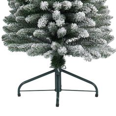 Kaemingk Snowy Pencil Pine 180cm/6ft Christmas Tree