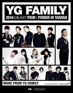 2014 YG Family 台灣場海報