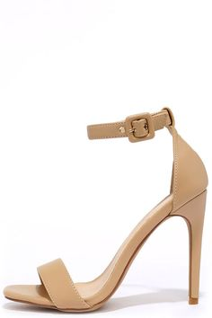 f103725a3017cb Chance of a Lifetime Nude Ankle Strap Heels at Lulus.com! Junior Outfits