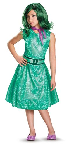 Disney Inside Out - Girls Classic Disgust Costume from BirthdayExpress.com