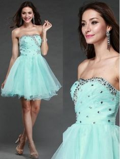 high fashion 2014 prom dresses, strapless short beading dress, custom made evening gowns, party dresses Strapless Prom Dresses, Dance Dresses, Homecoming Dresses, Blue Dresses, Formal Dresses, Party Dresses, High Fashion, Fashion 2014, Sequin Shorts