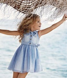 Proud stockists of Abel and Lula, Mayoral and Sarah Louise. Dope Outfits, Girl Outfits, Blue Denim Dress, Kids Clothing Brands, Fashion Forecasting, Junior Fashion, Vestido Casual, Versace, Trends