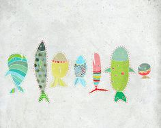 Avril  Art  children  Print of an original illustration by aliette, $25.00