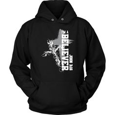 73eae3d6f6ed5 Christian hoodies Christian gift ideas - This I am a Believer John 3 16  bible