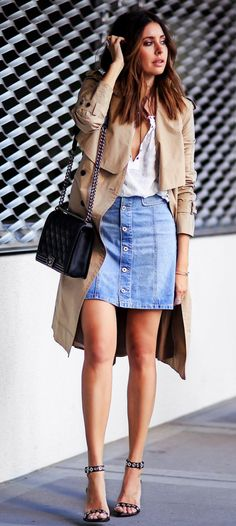 Trench Coats Outfits for Spring