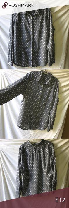 Maurice's polkadot button up shirt Maurice's polkadot button up shirt Maurices Tops Button Down Shirts