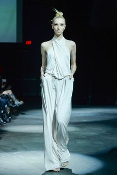 Draped pant jumpsuit by Greta Constantine SS 2015 collection