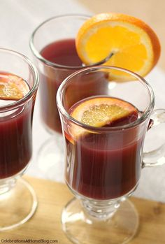 Make a batch of hot mulled wine and sip with friends or family. Get the recipe here