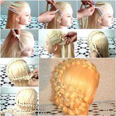 How to Make Beautiful Super S Updo Hair Bun tutorial and instruction. Follow us: www.facebook.com/fabartdiy