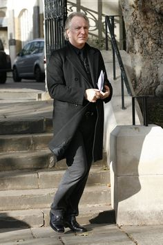 November 17, 2009 - Alan Rickman attends a memorial service for Sir John Mortimer at Southwart Cathedral in London, England.