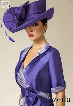 Perfect Church Hat Designs 2018 - hats for women Fascinator Hats, Fascinators, Headpieces, Church Hats, Fancy Hats, Wedding Hats, Purple Fashion, Dress Hats, Kirchen