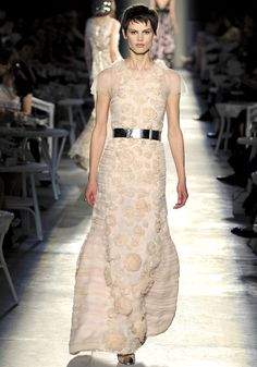 Saskia de Brauw on the runway for Chanel Haute Couture, Fall 2012