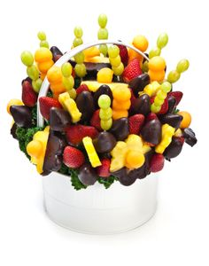 Chocolate dipped fruit bouquet's are the perfect alternative to giving a bouquet of flowers for any occasion!