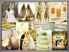 The Perfect Pear: A Palette of Chartreuse, Light Green, Yellow & Gold