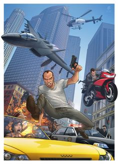 Artist's edgy Grand Theft Auto fan art is a hit