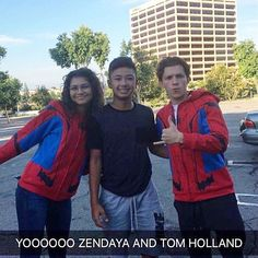 Tom and Zendaya a while ago in LA! @tomholland2013 | #tomholland #spidermanhomecoming