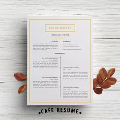 "Resume Template + Cover Letter Template for Word | DIY Printable 3 Page | ""Freelance Writer"" 